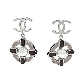 Chanel Silver Tone Metal Earring