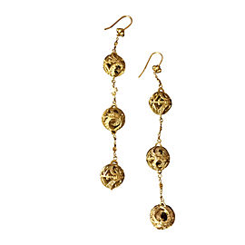 Doris Panos 18K Yellow Gold and Diamond 'Triple Larsa Cascade' Earrings