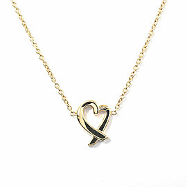 TIFFANY & Co. 18 Yellow Gold Loving heart Necklace