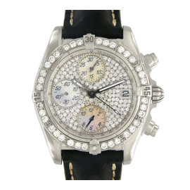 Breitling Cockpit Chronograph A13357 Stainless Steel Mother of Pearl and Diamond 39mm Automatic Mens Watch
