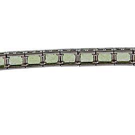 Art Deco Platinum Peridot Line Bracelet