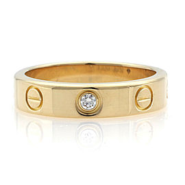 CARTIER 18K Yellow Gold mini love Diamond Ring
