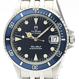 TUDOR Rolex Prince Oyster Date Submariner Steel Watch 75090