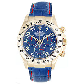 Rolex 18k Yellow Gold Cosmograph Daytona Men's Watch 116518 Blue Dial