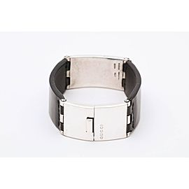 Gucci Leather Sterling Silver Bracelet
