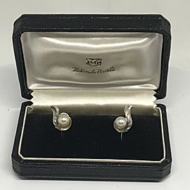 Mikimoto Sterling Silver Cultured Pearl Earrings