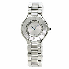 CARTIER W10109T2 Stainless Steel/Stainless Steel Must21 SM Watch TNN-2043