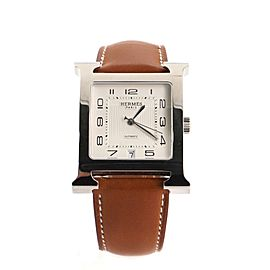 Hermes Heure H Automatic Watch Stainless Steel and Leather 32