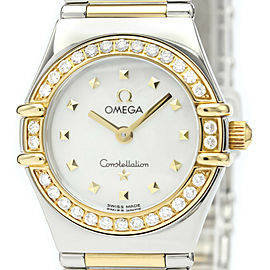 Polished OMEGA Constellation Diamond MOP 18K Gold Steel Watch 1365.71