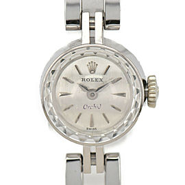 ROLEX Orchid Cal.1401 Silver Dial K18WG/SS Hand Winding Ladies Watch