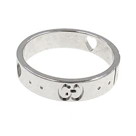Gucci 18k white gold Icon Amor Ring