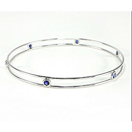 Tiffanhy & Co. Elsa Peretti 18k White Gold Bracelet with Blue Sapphires