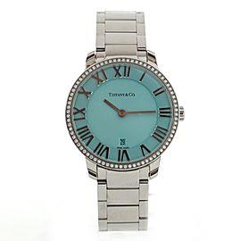Tiffany & Co. Atlas 2-Hand Quartz Watch Stainless Steel with Diamond Bezel 31
