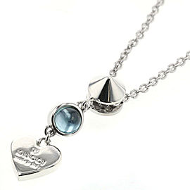 GUCCI 925 silver Heart colored stone Necklace