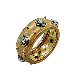 Buccellati 18K Yellow Gold & Diamond Macri Band Ring Size 6