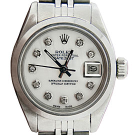 Ladies Rolex Steel Datejust White MOP Diamond 6916