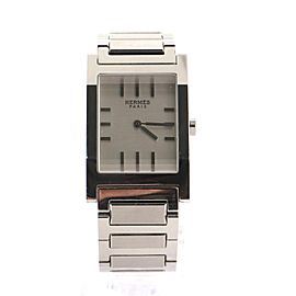 Hermes Tandem Quartz Watch Stainless Steel 26