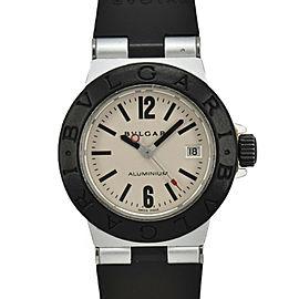 BVLGARI aluminum AL29TA Silver Dial Quartz Ladies Watch
