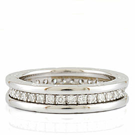 BVLGARI 18K white gold Diamond Eternity B.zero1 Ring CHAT-925