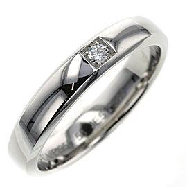 Van Cleef & Arpels 950 Platinum/ diamond Toujour Etoile EU56 Ring TBRK-330