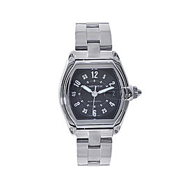 Cartier Roadster W62025V3 Stainless Steel & Black Dial 37mm Unisex Watch