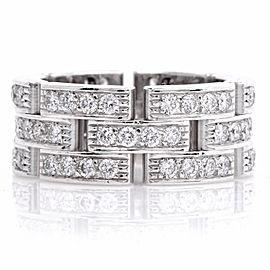 Cartier 18K White Gold Diamond Maillon Panthère Ring Size 4.5