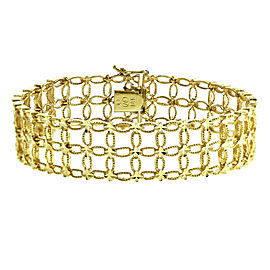 14k Yellow Gold Verona Lace Bracelet