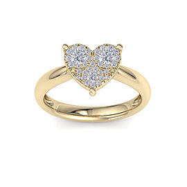 GLAM ® Love ring in 18K gold with white diamonds of 0.26 ct in weight