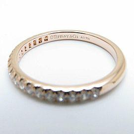 TIFFANY&CO 18K Pink Gold Diamond Tiffany Soleste Half Eternity Ring