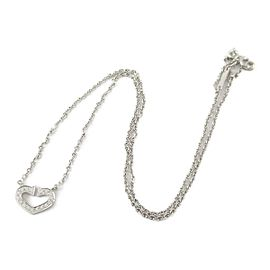 Cartier 18K white gold C heart diamond Necklace rcb-25
