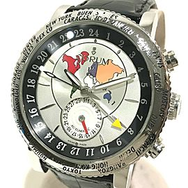 CORUM 983.201.20 Stainless Steel/Leather belt Classical GMT Wrist watch