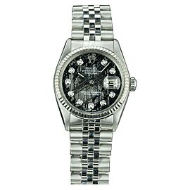 Rolex Datejust 16014 Stainless Steel and White Gold with Meteorite Diamond Dial 36mm Unisex Watch