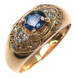 18k yellow gold/sapphire/diamond Ring