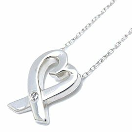 TIFFANY&CO 925 silver Loving Heart Necklace