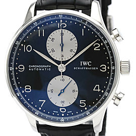 IWC Portuguese Chronograph Steel Automatic Watch 3714 IW371404 #HK-400