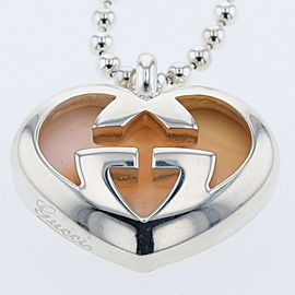 GUCCI Silver925 Heart interlocking Necklace TBRK-17