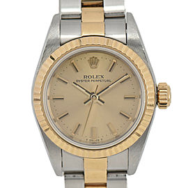 ROLEX Oyster perpetual 67193 18K/SS Cal.2130 Automatic Ladies Watch