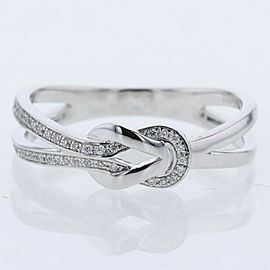 FRED 18k white gold Chance Infini small model Ring