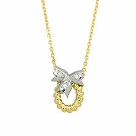 Christian Dior 18k yellow gold/Diamond/Platinum Necklace