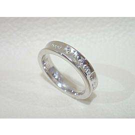 TIFFANY & CO. 18k white gold/diamond 1837 narrow band Ring