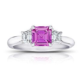 Platinum 1.24ctw. Sapphire 0.51ctw. Diamond Ring Size 7