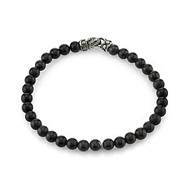 Scott Kay 925 Sterling Silver with Matte Onyx Beaded Bracelet