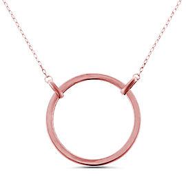 14k Rose Gold Circle Necklace