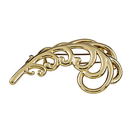 Vintage Tiffany & Co. 1980 18k Yellow Gold Paloma Picasso Large Plume Brooch