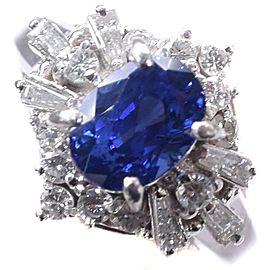 Platinum/diamond sapphire Ring NST-378