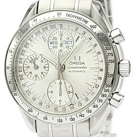Polished OMEGA Speedmaster Triple Date Steel Automatic Watch 3523.30
