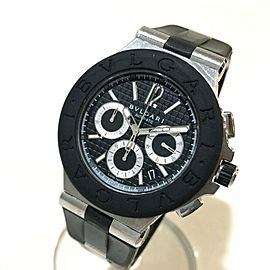 BVLGARI DG42SVCH Stainlees Steel/Rubber Diagono Chronograph Watch