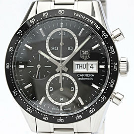 TAG HEUER Carrera Chronograph Caliber 16 Day Date Steel Watch CV201AG