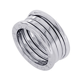 Bulgari B-Zero1 18K White Gold 3 Bands Ring Size 6.5