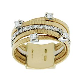 Marco Bicego 18K Yellow & White Gold 0.25ct Diamond Wedding Ring Size 5